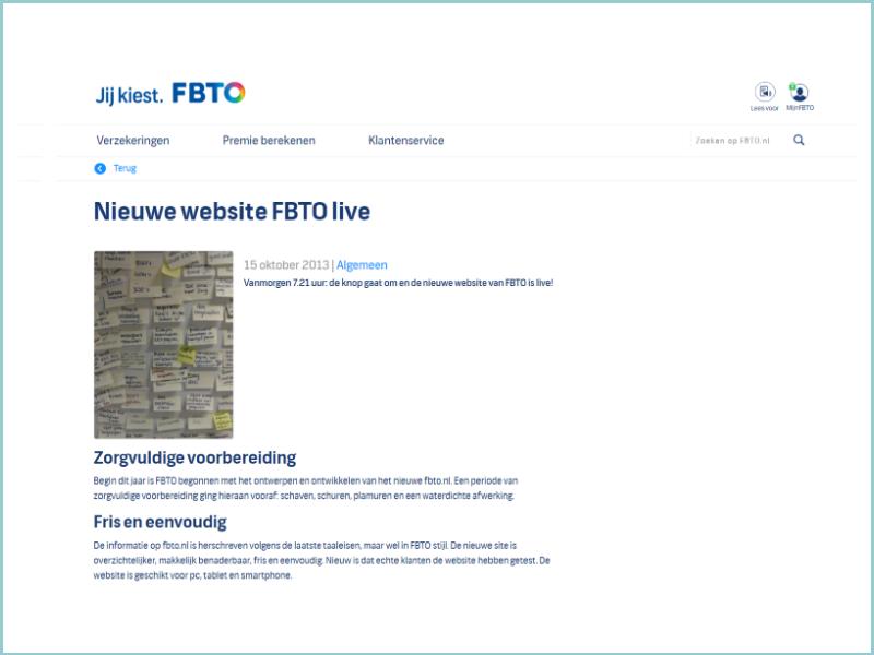 Voorbeeld website FBTO